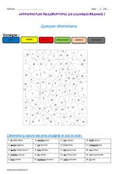 Déterminants - Cm1 - Coloriage magique