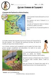 Qui est l'homme de Tautavel? – Ce2 – Cm1 – Exercices