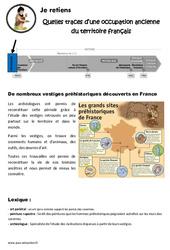 Quelles traces d'une occupation ancienne du territoire français – Ce2 – Cm1 – Leçon