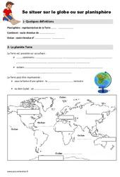 Globe – Planisphère – Ce1 – Leçon