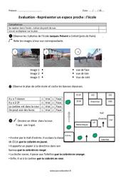 Ecole – Représenter un espace proche – Ce1 – Evaluation