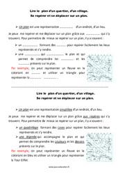 Quartier – Village – Ce1 – Leçon – Lire un plan