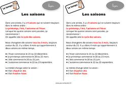 Saisons - Ce2 - Leçon - Le temps