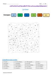 Futur - Cm2 - Coloriage magique