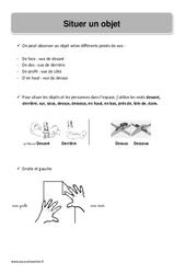 Situer un objet - CP - Leçon