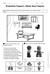 Situer dans l'espace - CP - Evaluation