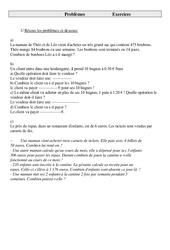 Problèmes – Cm2 – Exercices – Cycle 3   -1