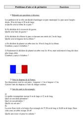 Aire et  périmètre – Problèmes – Cm2 – Exercices – Cycle 3    -2 –