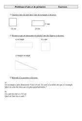 Aire et  périmètre - Problèmes - Cm2 - Exercices - Cycle 3   -1