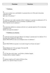 Fractions – Problèmes – Cm2 – Exercices – Cycle 3   -2