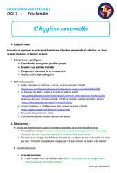Hygiène corporelle – Cp – Ce1 – Ce2 – Fiche de préparation – EMC