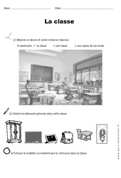 Classe – Cp – Exercices – Représenter un espace proche