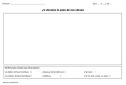 Je dessine le plan de ma classe – Cp – Exercices