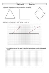 Symétrie – Cm1 – Exercices – Géométrie – Cycle 3