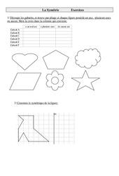 Symétrie – Cm1 – Exercices – Géométrie – Cycle 3  -2-