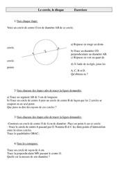 Cercle – Disque – Cm1 – Exercices – Géométrie – Mathématiques – Cycle 3