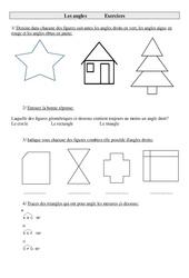 Angles – Cm1 – Exercices – Géométrie – Cycle 3    -2-