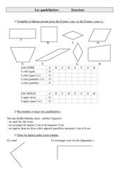 Quadrilatères – Cm1 – Exercices – Géométrie – Cycle 3 –