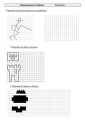 Reproduction de figures – Cm1 – Exercices