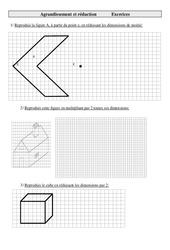 Agrandissement et réduction - Cm2 - Exercices - Géométrie - Cycle 3