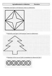 Agrandissement et réduction - Cm2 - Exercices - Géométrie - Cycle 3   -2 -