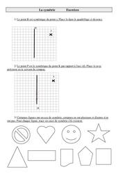 Symétrie – Cm2 – Exercices – Géométrie – Cycle 3