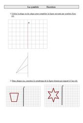 Symétrie – Cm2 – Exercices à imprimer