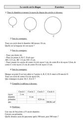 Cercle - Disque - Cm2 - Exercices - Géométrie - Mathématiques - Cycle 3