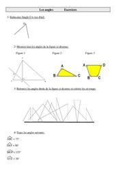 Angles – Cm2 – Exercices de géométrie à imprimer
