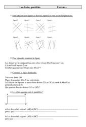 Droites parallèles – Cm2 – Exercices  – Géométrie – Mathématiques – Cycle 3