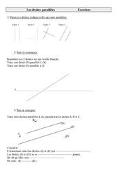 Droites parallèles – Cm2 – Exercices de géométrie à imprimer