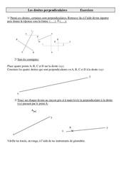 Droites perpendiculaires – Cm2 – Exercices – Géométrie – Mathématiques