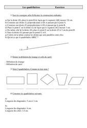 Quadrilatères – Cm2 – Exercices – Géométrie – Cycle 3 -