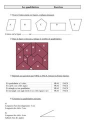 Quadrilatères – Cm2 – Exercices de géométrie à imprimer