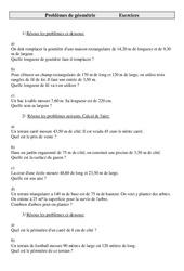 Problèmes de Géométrie – Cm2 – Cycle 3 –