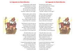 Ce2 Lecture - Compréhension: La Légende de Saint Nicolas