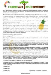 L'arbre aux deux branches - Cm1 - Cm2 - Conte - Lecture - Cycle 3