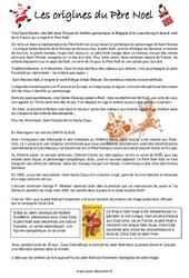 L'histoire du père noël  - Cm1 - Cm2 - Lecture - Cycle 3