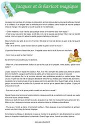 Jacques et le haricot magique – Cm1 – Cm2 – Lecture – Compréhension – Cycle 3