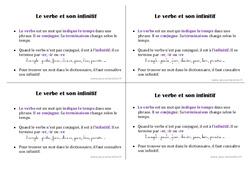 Le verbe et son infinitif - Ce1 - Leçon