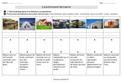 Caractéristiques des maisons - Ce1 - Exercices