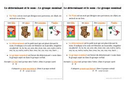 Déterminant - Nom - Groupe nominal - Ce1 - Leçon