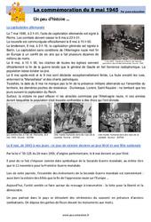 La commémoration du 8 mai 1945 - Cm1 - Cm2