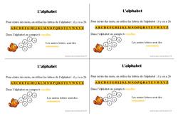Alphabet – Ce1 – Leçon