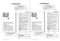 Dictionnaire – Ce1 – Leçon