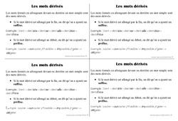 Mots dérivés – Ce1 – Leçon