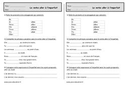 Aller à l'imparfait - Ce1 - Exercices à imprimer