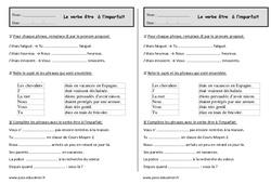 Etre à l'imparfait   - Ce1 - Exercices - Conjugaison