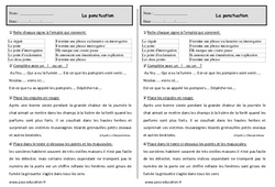 Ponctuation – Ce1 – Exercices – Grammaire