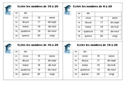 Ecrire les nombres de 0 à 20 – Ce1 – Leçon – Numération